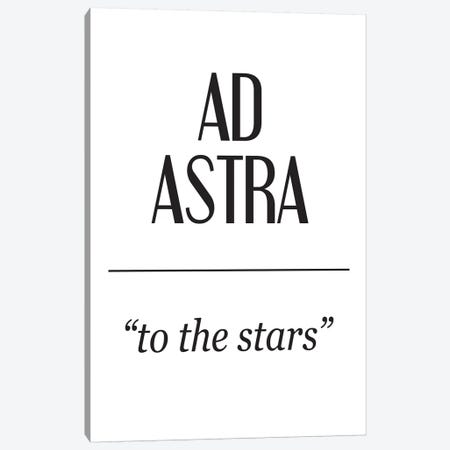 Latin Meanings-Ad Astra Canvas Print #PXY278} by Pixy Paper Canvas Print
