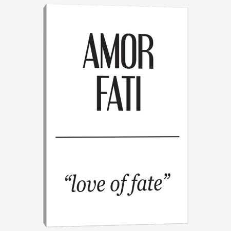 Latin Meanings-Amor Fati Canvas Print #PXY279} by Pixy Paper Art Print
