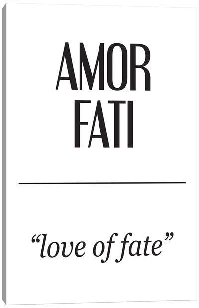 Latin Meanings-Amor Fati Canvas Art Print