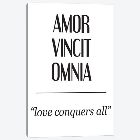 Latin Meanings-Amor Vincit Canvas Print #PXY280} by Pixy Paper Canvas Artwork