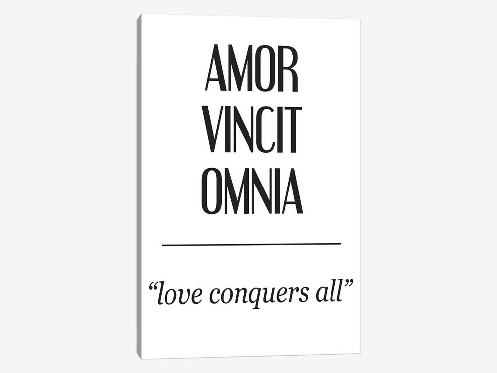 Latin Meanings-Amor Vincit by Pixy Paper 1-piece Art Print