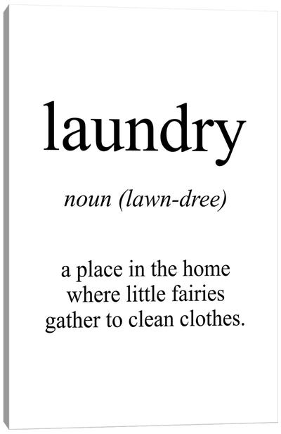 Laundry Meaning Canvas Art Print