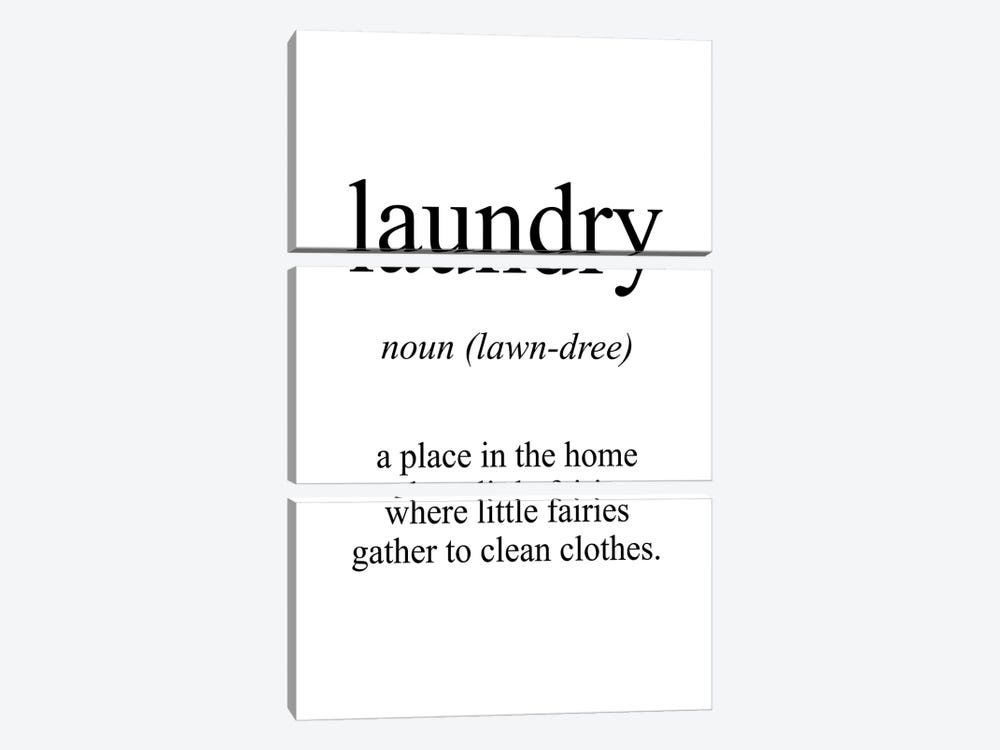 Laundry Meaning by Pixy Paper 3-piece Art Print