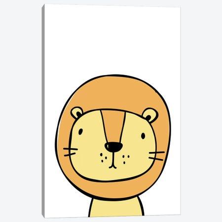 Lion Orange Canvas Print #PXY295} by Pixy Paper Canvas Art