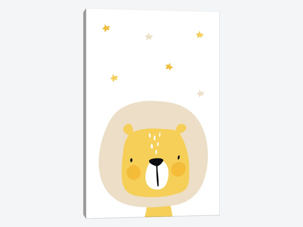 Lion With Stars by Pixy Paper 1-piece Canvas Art