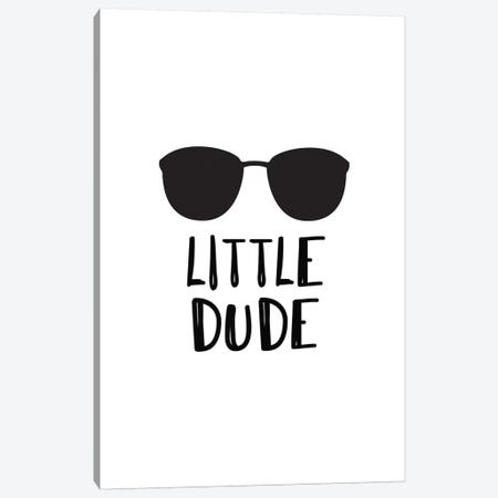 Little Dude Sunglasses Black Novelty Canvas Print #PXY302} by Pixy Paper Canvas Art Print