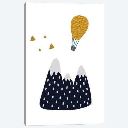 Little Explorer Mountains Balloon Canvas Print #PXY304} by Pixy Paper Canvas Wall Art