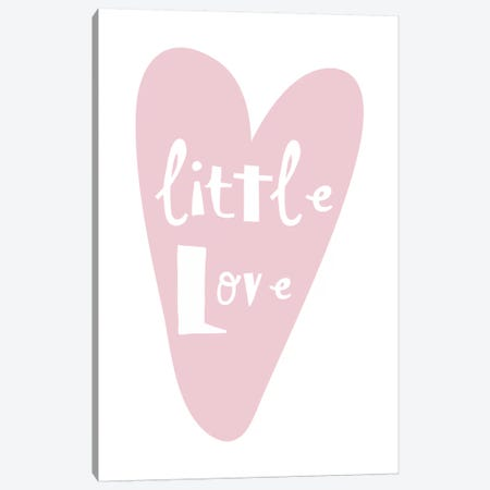 Little Love Heart Canvas Print #PXY307} by Pixy Paper Canvas Artwork