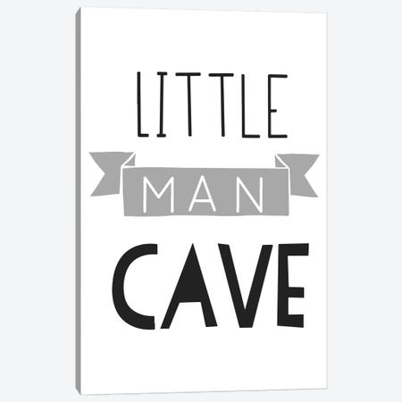 Little Man Cave Grey And Black Banner Canvas Print #PXY309} by Pixy Paper Canvas Art Print