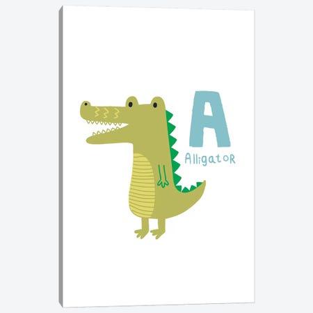 Animal Alphabet - A Canvas Print #PXY31} by Pixy Paper Canvas Art Print