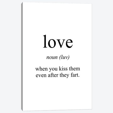 Love Meaning Canvas Print #PXY321} by Pixy Paper Art Print