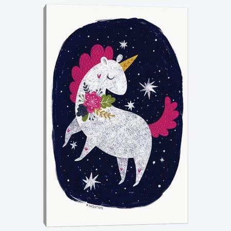Magic Night Unicorn Canvas Print #PXY326} by Pixy Paper Canvas Wall Art