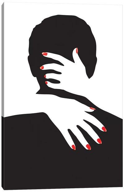 Man And Hands Canvas Art Print