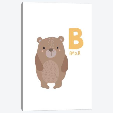 Animal Alphabet - B Canvas Print #PXY32} by Pixy Paper Art Print