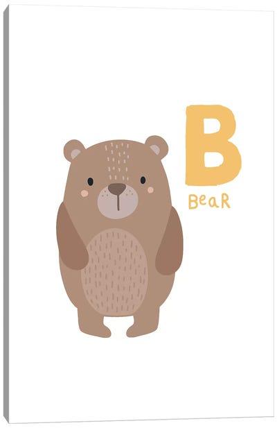 Animal Alphabet - B Canvas Art Print