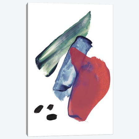 Mixed Watercolour Abstract Red Blue Canvas Print #PXY339} by Pixy Paper Canvas Artwork