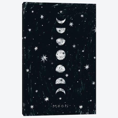 Moon Phases Canvas Print #PXY346} by Pixy Paper Canvas Art