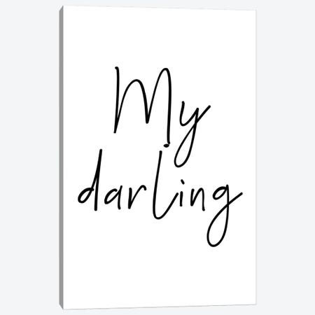 My Darling Black Canvas Print #PXY356} by Pixy Paper Canvas Print