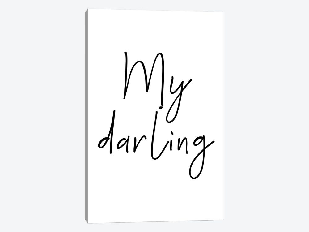 My Darling Black by Pixy Paper 1-piece Canvas Art Print