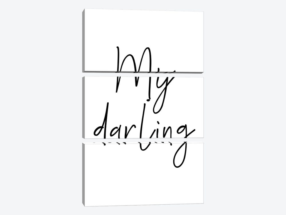 My Darling Black by Pixy Paper 3-piece Canvas Art Print