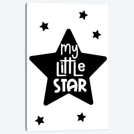 My Little Star Black Canvas Print #PXY359} by Pixy Paper Canvas Art