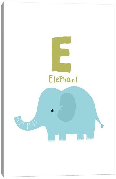 Animal Alphabet - E Canvas Art Print