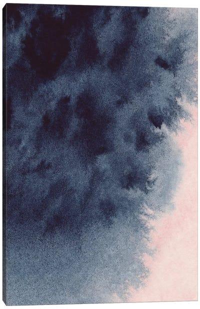Navy & Blush Watercolour Canvas Art Print