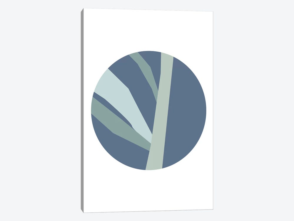 Navy Circle With Branches by Pixy Paper 1-piece Art Print