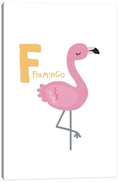 Animal Alphabet - F Canvas Art Print