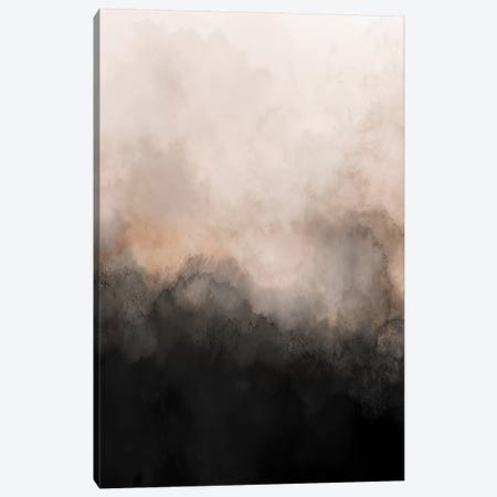 Nude & Black Watercolour Canvas Print #PXY371} by Pixy Paper Canvas Wall Art