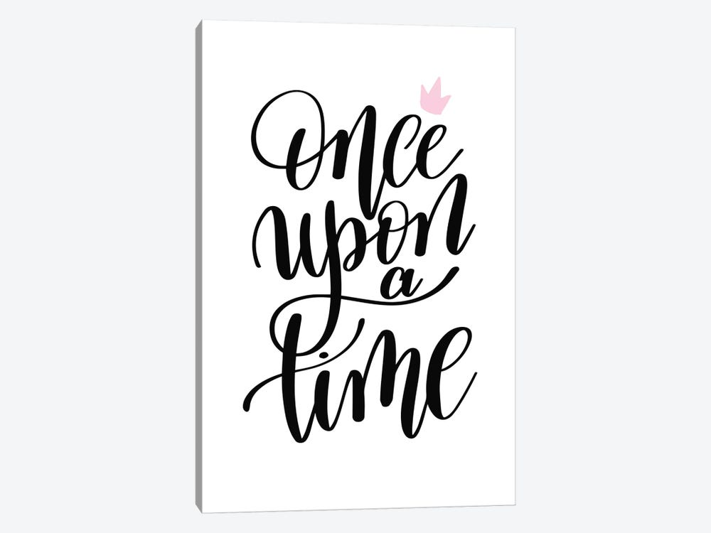 Once Upon A Time Black by Pixy Paper 1-piece Art Print