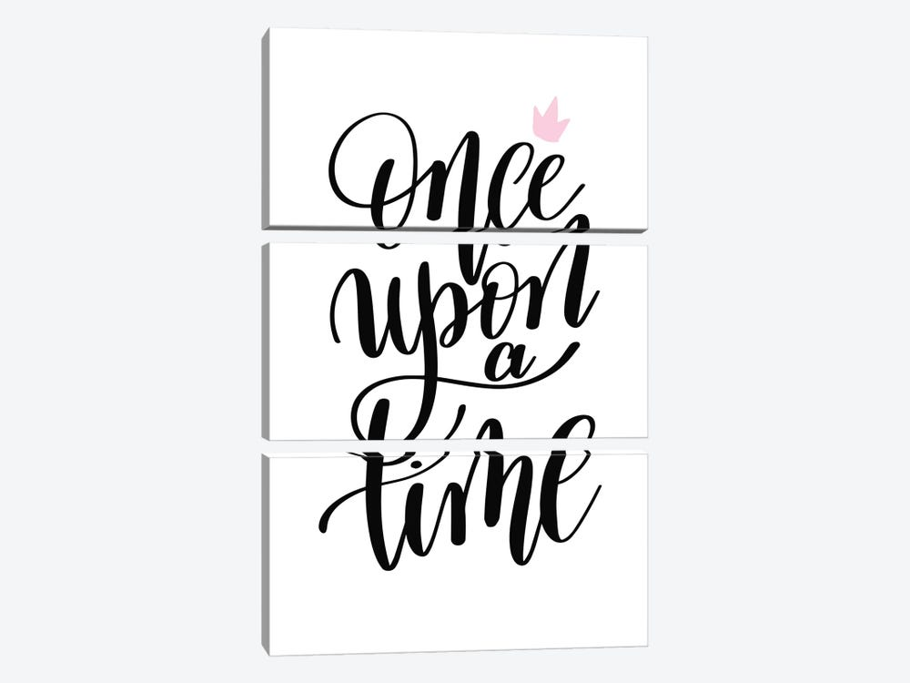 Once Upon A Time Black by Pixy Paper 3-piece Canvas Art Print