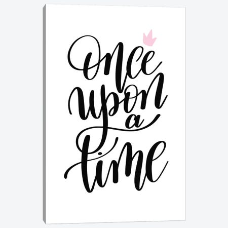 Once Upon A Time Black Canvas Print #PXY378} by Pixy Paper Canvas Artwork