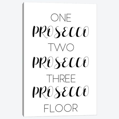 One Prosecco Two Canvas Print #PXY379} by Pixy Paper Canvas Artwork