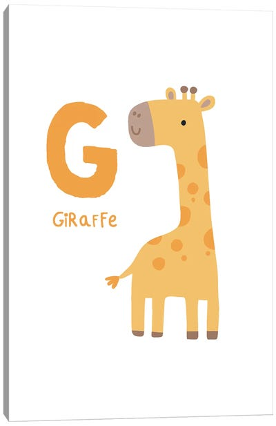 Animal Alphabet - G Canvas Art Print
