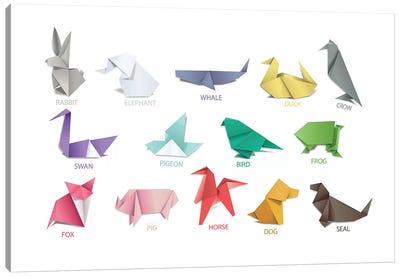 Origami Animals Canvas Art Print