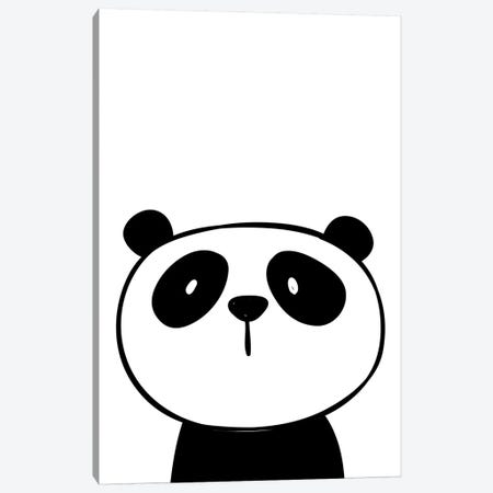 Panda Canvas Print #PXY385} by Pixy Paper Canvas Wall Art