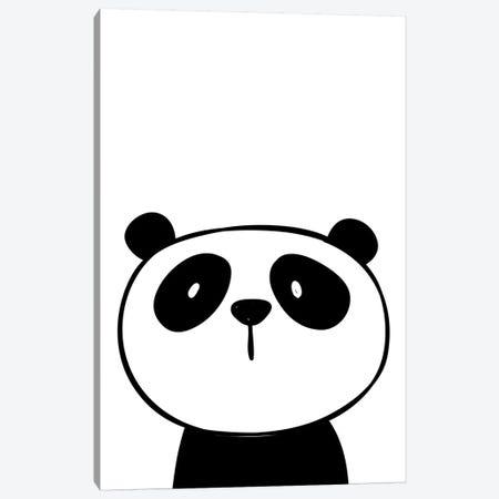 Panda Canvas Print #PXY385} by Pixy Paper Canvas Wall Art