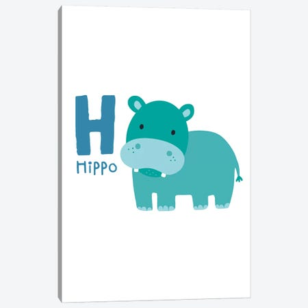 Animal Alphabet - H Canvas Print #PXY38} by Pixy Paper Canvas Print