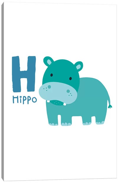Animal Alphabet - H Canvas Art Print