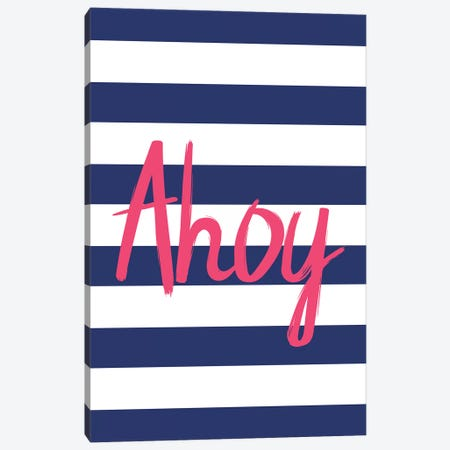 Pink Ahoy Nordic Design Canvas Print #PXY392} by Pixy Paper Canvas Wall Art