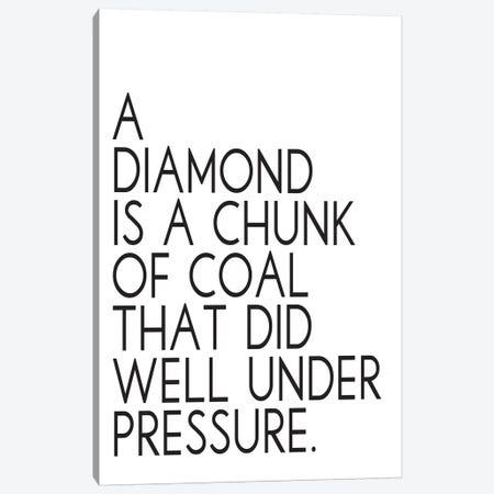 A Diamond Canvas Print #PXY3} by Pixy Paper Canvas Artwork