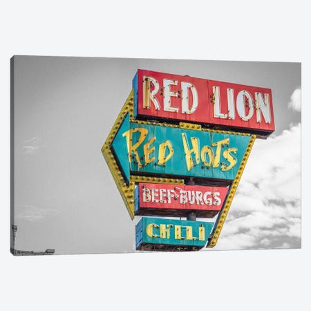 Red Hot Sign Canvas Print #PXY413} by Pixy Paper Art Print
