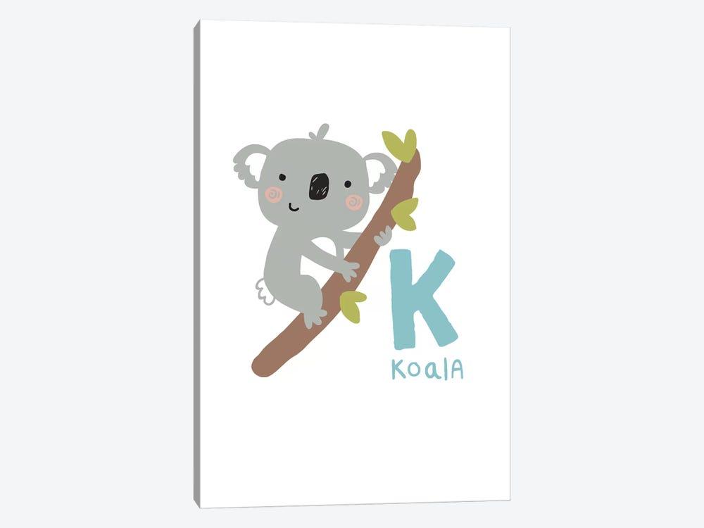Animal Alphabet - K by Pixy Paper 1-piece Canvas Print