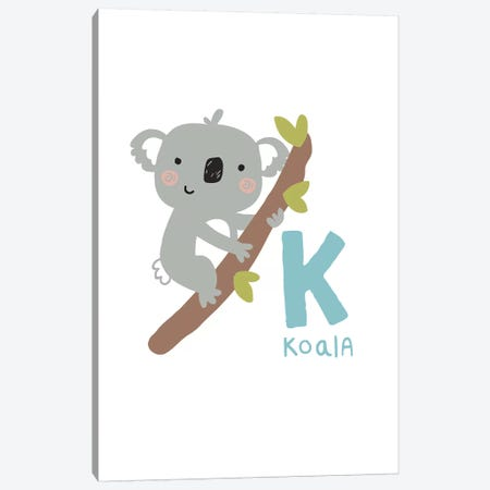 Animal Alphabet - K Canvas Print #PXY41} by Pixy Paper Canvas Wall Art