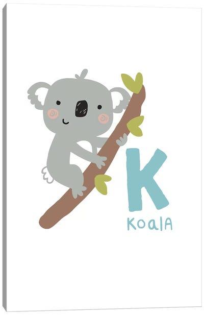 Animal Alphabet - K Canvas Art Print