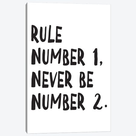 Rule Number Canvas Print #PXY427} by Pixy Paper Canvas Art Print