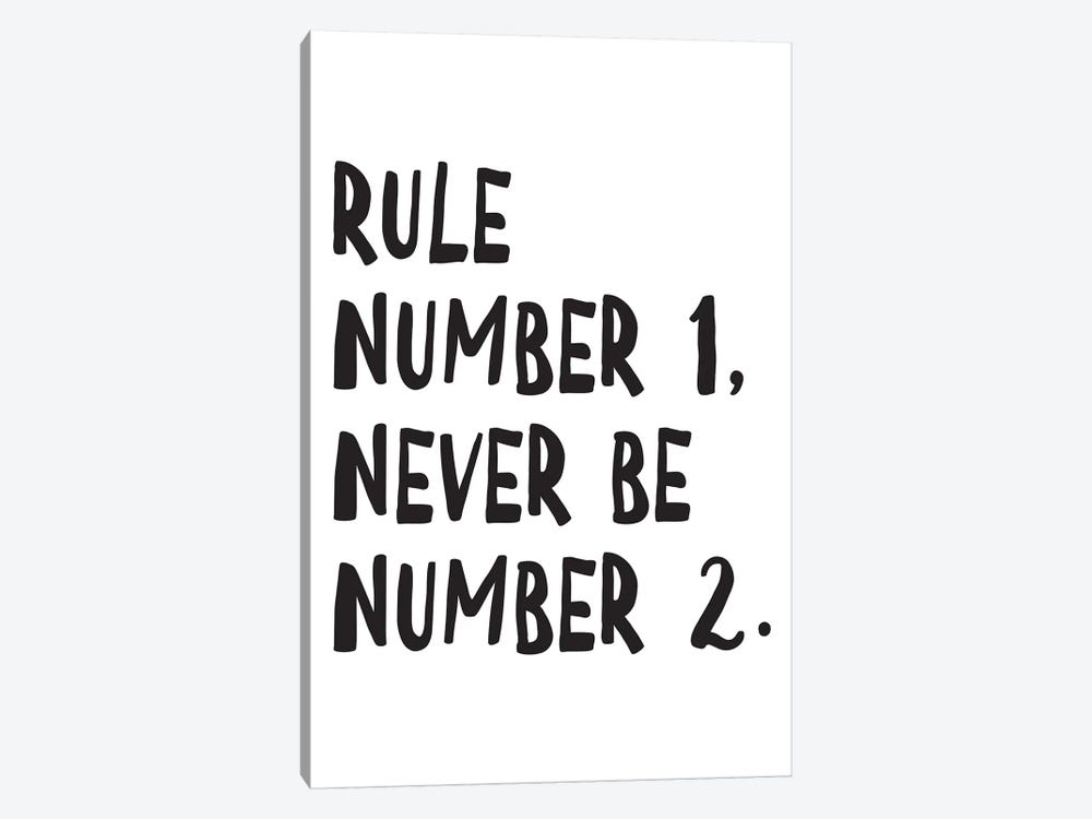 Rule Number by Pixy Paper 1-piece Canvas Wall Art