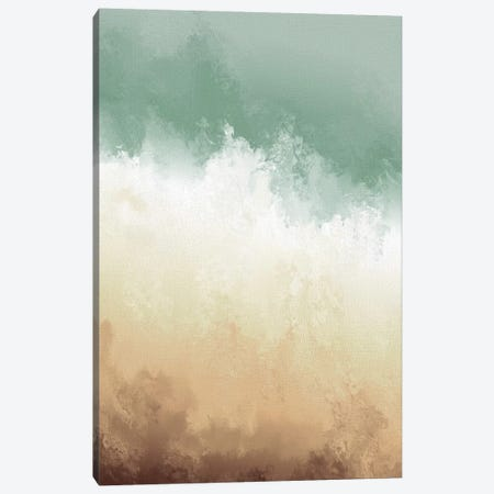 Sand & Shore Watercolour Canvas Print #PXY428} by Pixy Paper Canvas Art