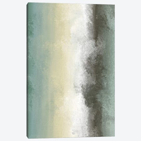 Sand & Shore With Black Watercolour Canvas Print #PXY429} by Pixy Paper Canvas Artwork
